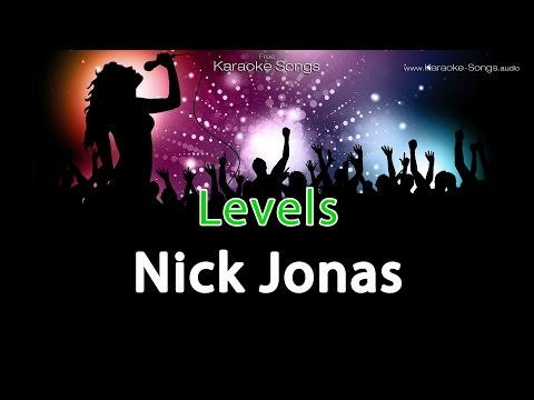 Nick Jonas 'Levels' Instrumental Karaoke Version with vocals and lyrics