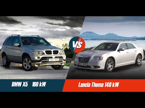 BMW X5 против LANCIA THEMA | Тест драйв | 220 hP VS 190 hP