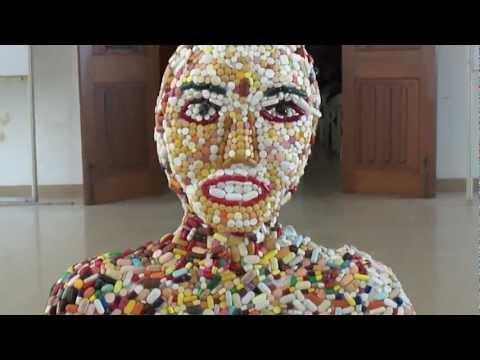 Tablet Girl, made of pills and capsule ......MEDEX 2012,Medical College,Thiruvananthapuram