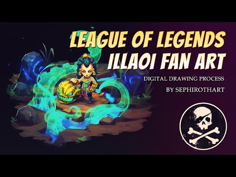 Illaoi - League of Legend FanArt. Drawing Process from Twitch Stream Channel | by Sephiroth Art