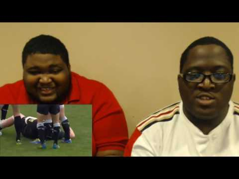 Rugby big hits and fights - with WWE commentary Reaction