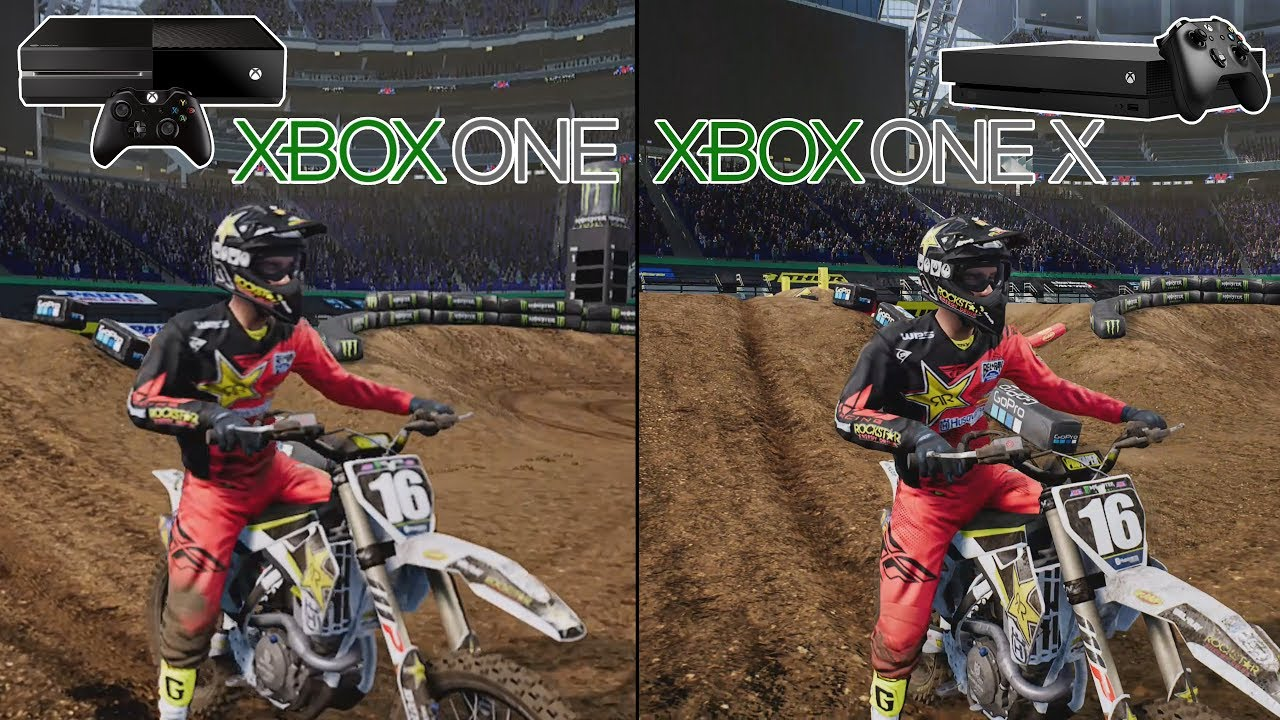 4k monster energy supercross game xbox one vs xbox one. Black Bedroom Furniture Sets. Home Design Ideas