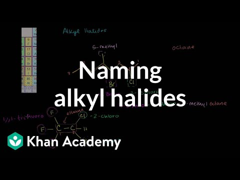 Naming alkyl halides   Substitution and elimination reactions   Organic chemistry   Khan Academy