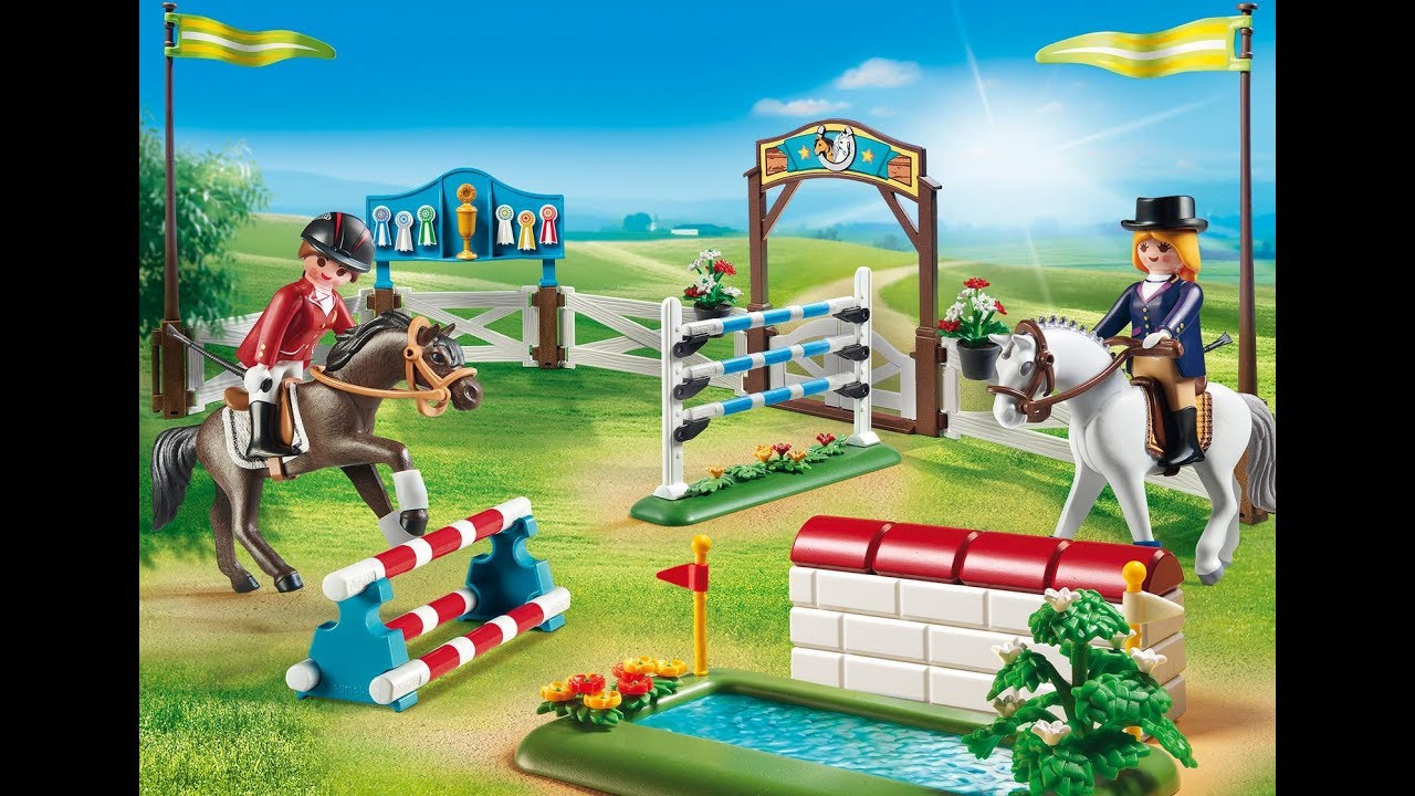 playmobil 2018 country centre questre chevaux. Black Bedroom Furniture Sets. Home Design Ideas