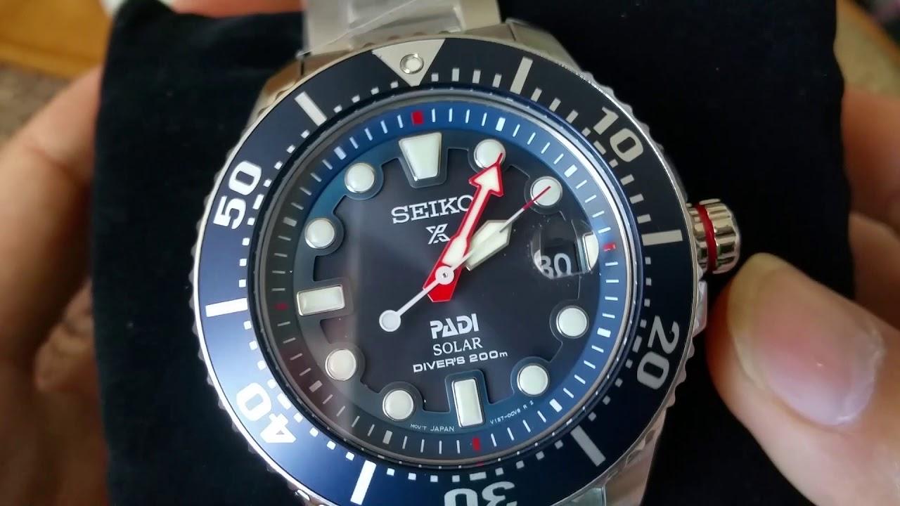 8b2ee178a Unboxing SEIKO PROSPEX PADI SNE435 Series Solar 200M Diver Watch! Full HD  2017