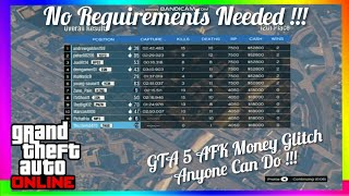 Get Legit Money For FREE For Doing Nothing In GTA 5 Online Money Glitch AFK [NO REQUIREMENTS NEEDED]