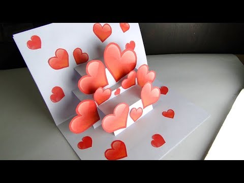 DIY 3D Pop Up Card | Handmade Heart Card For Valentines Day