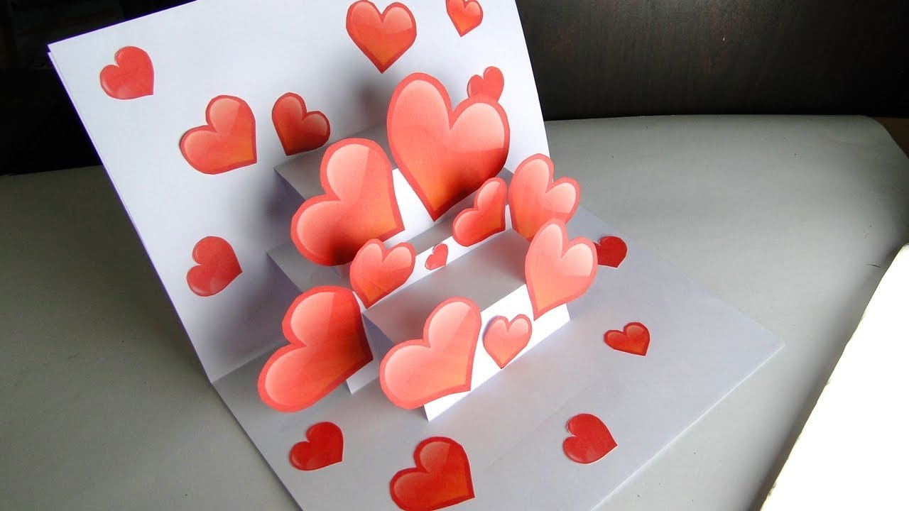 Sending you all my love 3 d Valentine Card
