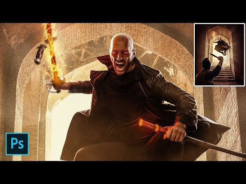 Assassin - Photo Manipulation Tutorial (How to add glow and lights to your photos) thumbnail