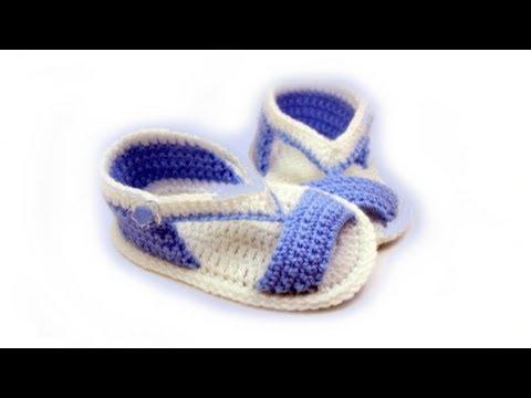DIY baby booties crochet //Vasilisa