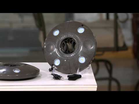 Patio Mate LED Umbrella Light with Bluetooth Speakers on QVC