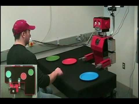 Hand-Eye Coordination in a Humanoid Robot