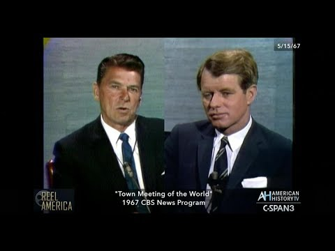 1967 Town Meeting of the World  w/ Ronald Reagan & Robert Kennedy