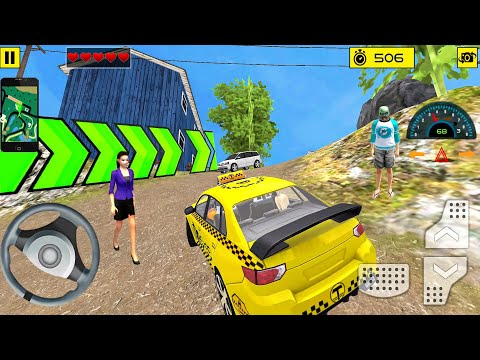 Driving Offroad Taxi Sim #3 Road Climb! Taxi game Android gameplay  