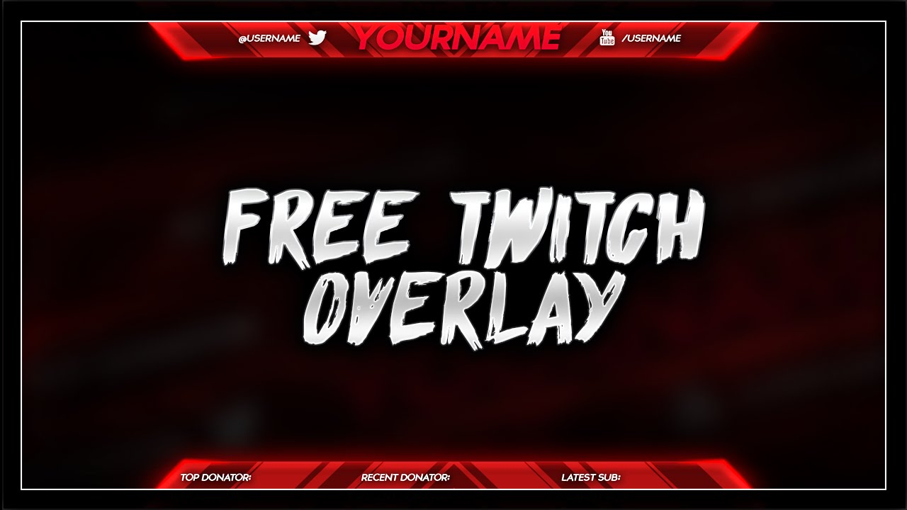 FREE Twitch Overlay Template PSD - Free Download - Free GFX - YouTube