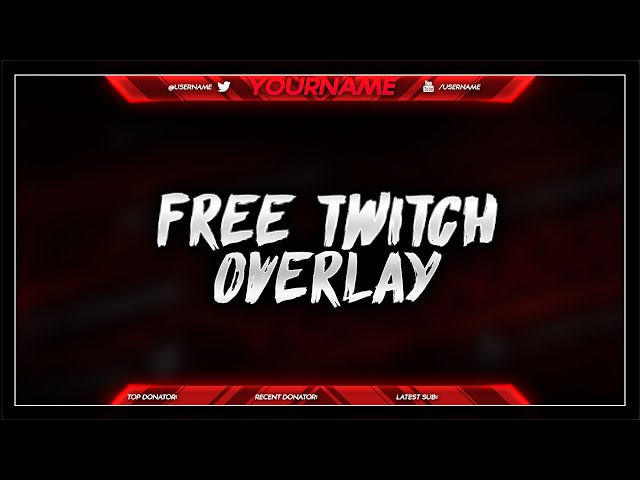 Free twitch overlay template psd free download free for Free twitch overlay template