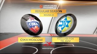 Highlights: CSKA Moscow-Maccabi FOX Tel Aviv
