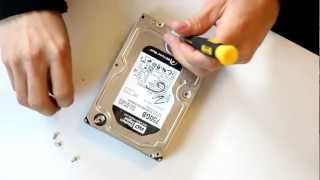 Opening & Destroying Hard Drive open HDD internal parts