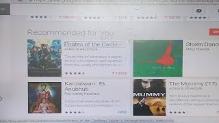 How to purchase Latest Hollywood and Bollywood full HD Original Movie on Google Play (Hindi)