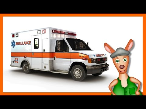 AMBULANCE: Emergency vehicle videos for children. Kids Videos. Preschool and Kindergarten learning.