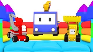 The Candy Truck - Learn colors with Tiny Trucks : bulldozer + crane + excavator