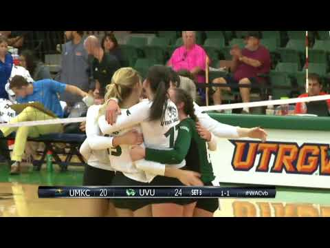 UVU Volleyball defeats UMKC in the WAC Tournament, 3-1
