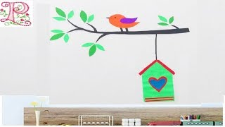 DIY :: Room decor ideas    How to Make Wall Decals From Paper    Creative craft ideas