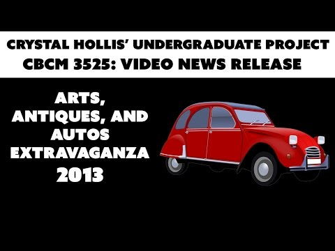 CBCM 3525: Video News Release | Arts, Antiques, and Autos Extravaganza (2013)