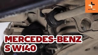 How to replace Sway bar bushes on MERCEDES-BENZ S-CLASS (W140) - video tutorial