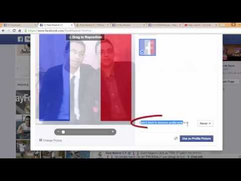 Make The French Flag  Your Profile Picture Without Any Program In Seconds