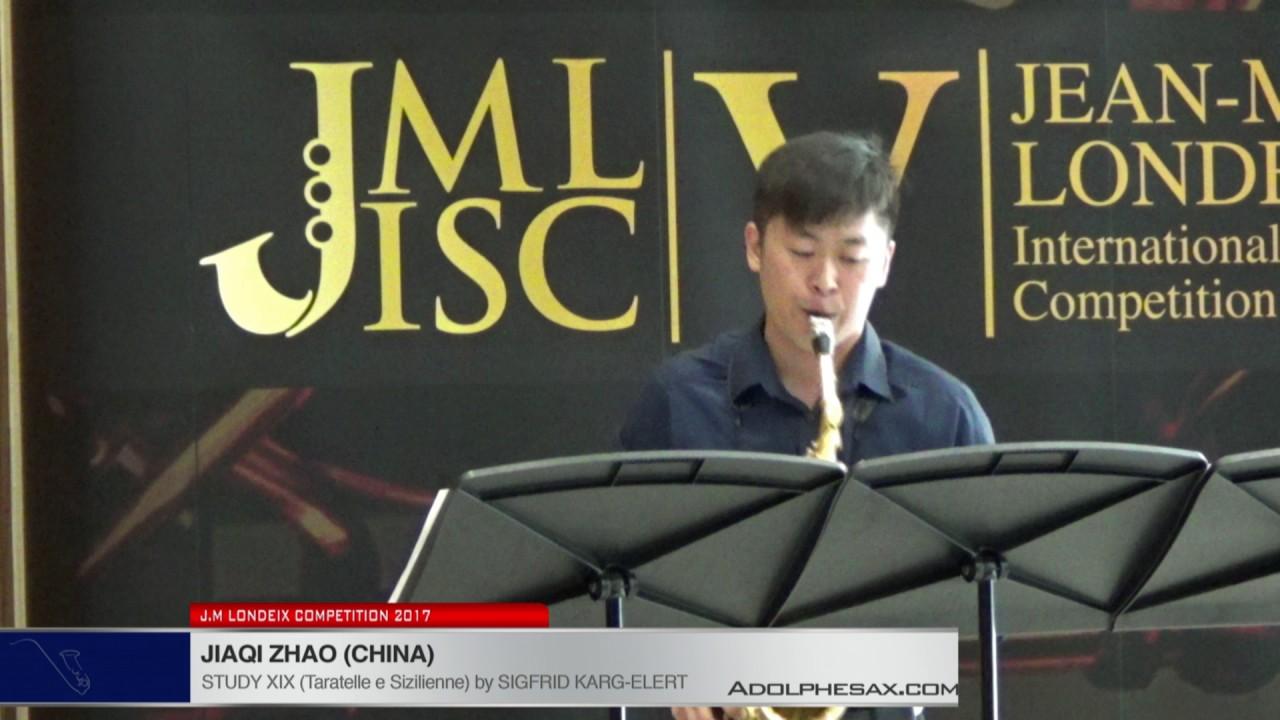 Londeix 2017 - Jiaqi Zhao (China) - XIX Tarantelle e Sizilienne by Sigfrid Karg Elert