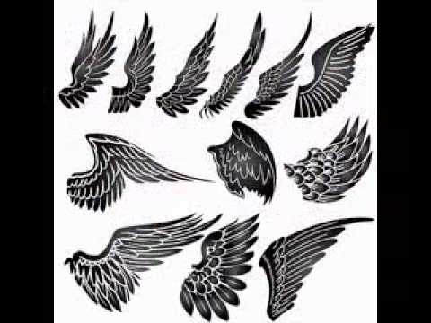 angel wing tattoo pictures - YouTube