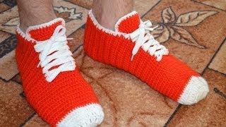 """Носки-кеды крючком для мужчин"" (Socks-shoes crochet for men)"