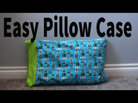 🛌 Easy french seam pillow case  🛌