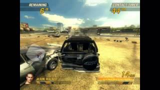 Flatout 2 - Gas Station Derby Gameplay