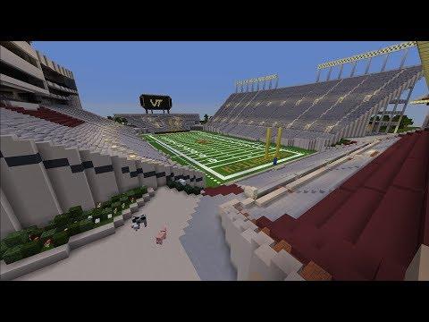 Lane Stadium - Virginia Tech Football - Minecraft Creative Build