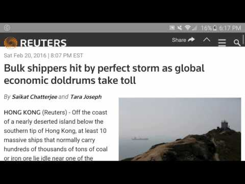 More proof Baltic Dry Index Shipping coverup