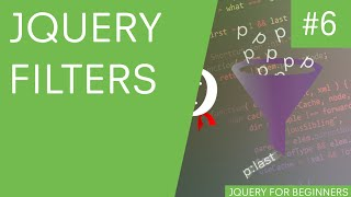 jQuery Tutorial for Beginners #6 - jQuery Filters(Hey gang, in this jQuery tutorial for beginners, I'll be walking you through some jQuery filters. jQuery filters are a way to refine our jQuery selectors to make them ..., 2015-10-01T10:37:29.000Z)