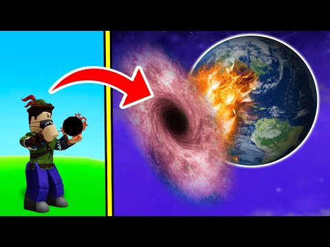 CONSEGUI SEGURAR UM BURACO NEGRO E QUEBREI TUDO NO ROBLOX!! (Black Hole Simulator)