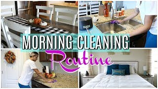 MY MORNING CLEANING ROUTINE | CLEAN WITH ME 2018 | CLEANING MOTIVATION