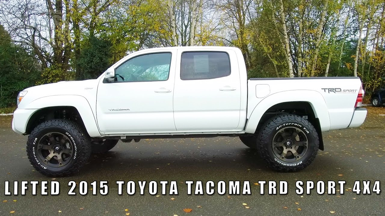 lifted 2015 toyota tacoma trd sport 4x4 youtube. Black Bedroom Furniture Sets. Home Design Ideas