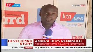 Ambira boys remanded to remain in police custody: Case up for mention on 3rd December