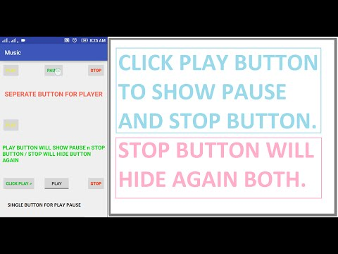 Simple Music Player in Android Studio 2.3.3 working   Single button for play pause in player   Mix