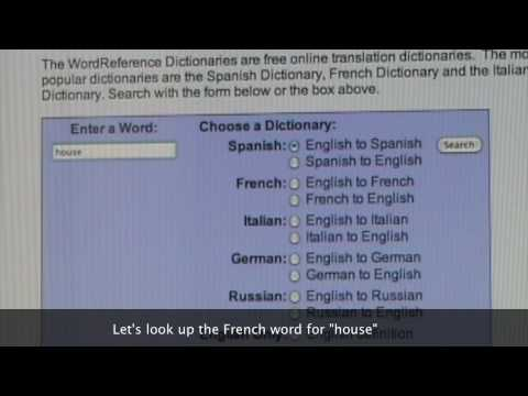 word reference english french