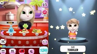 My Talking Angela BABY VS ADULT/ LEVEL 12 Vs LEVEL 130 Gameplay Great Makeover for Children HD