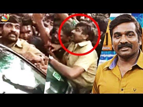 ഉന്തിലുംതള്ളിലും പെട്ടിട്ടും ചിരിച്ചുകൊണ്ട് മക്കൾ സെൽവൻ | Vijay Sethupathi Location Video