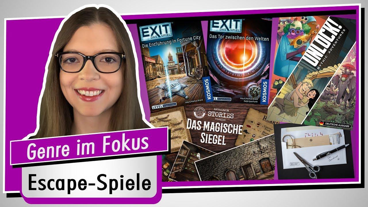 Genre im Fokus 34 - VIER Escape/Exit Spiele im Vergleich - Sommer/Herbst 2021 - Spiel doch mal...!