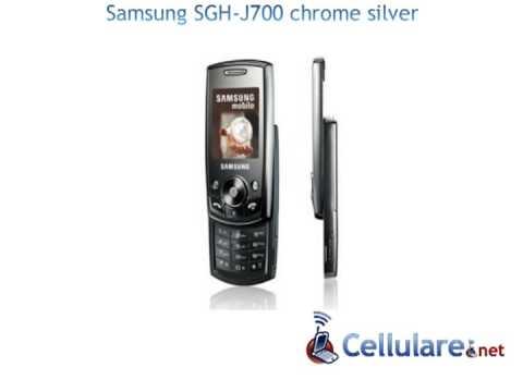 Samsung SGH-J700 chrome silver
