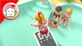 Playmobil Film deutsch - Sprungturm , Slackline und Meer - Video für Kinder von Familie Hauser