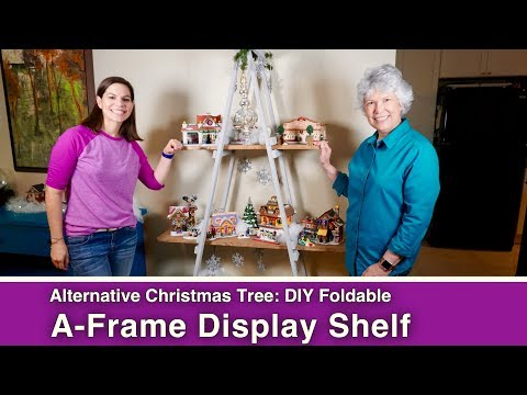 DIY Foldable A-Frame Display Shelf // Alternative Christmas Tree